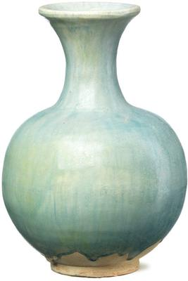 Ceramic Round Vase - Pale Blue