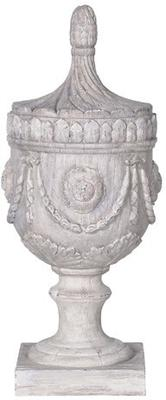 Wood Effect Ornate Urn image 2