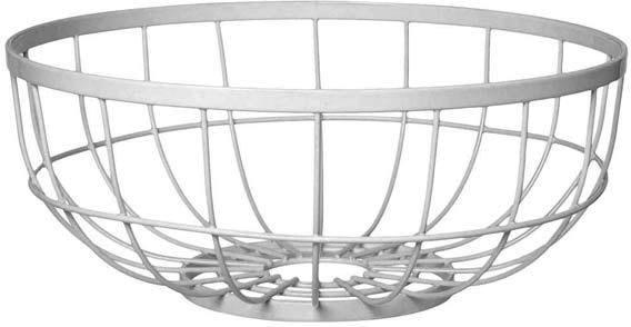 Present Time Open Grid Fruit Basket - White