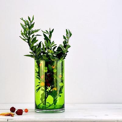 Cylinder Flower Vase Green