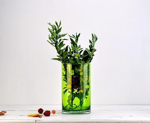 Cylinder Flower Vase Green image 2