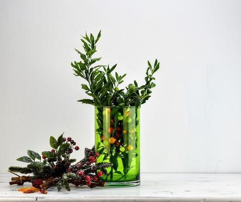 Cylinder Flower Vase Green image 3