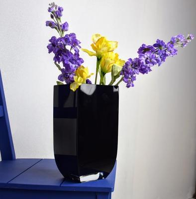 Rectangular Glass Vase Noir image 2
