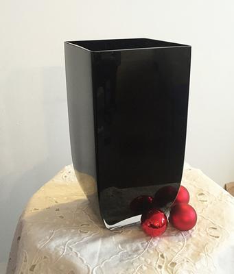 Rectangular Glass Vase Noir image 3