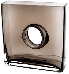 Glass Flower Vase Mocha 25cm High image 2