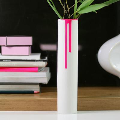 Block Neon Drip Vase - Pink