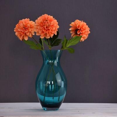 Large Posy Vase 'Turquoise - 28cm  image 2