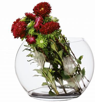 Glass Vase Crescent 28cm