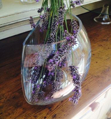 Glass Vase Crescent 28cm image 3