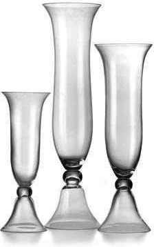 Large Glass Trumpet Vase Lilo1