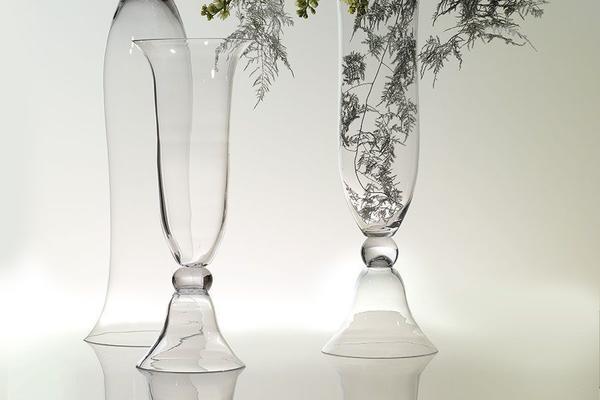 Large Glass Trumpet Vase Lilo1 image 2