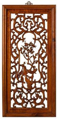 Carved Panel in Warm Elm - 'Spring'