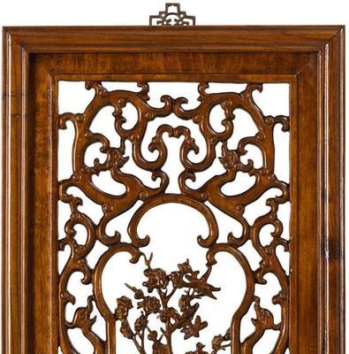 Carved Panel in Warm Elm - 'Spring' image 2