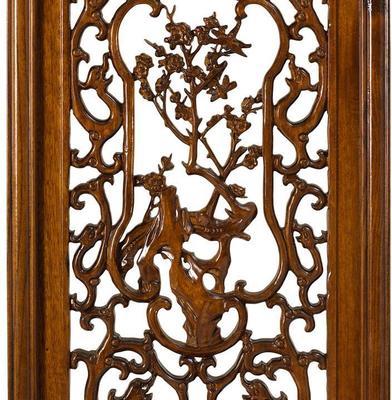 Carved Panel in Warm Elm - 'Spring' image 3