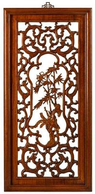Carved Panel in Warm Elm - 'Autumn'
