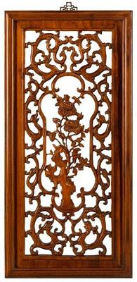 Carved Panel in Warm Elm - 'Winter'
