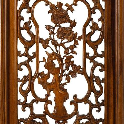 Carved Panel in Warm Elm - 'Winter' image 3