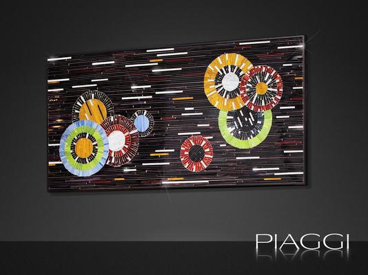 Circles PIAGGI decorative glass mosaic panel image 2
