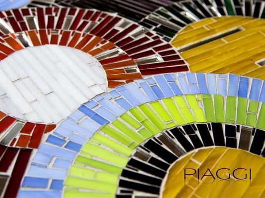 Circles PIAGGI decorative glass mosaic panel image 3