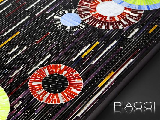 Circles PIAGGI decorative glass mosaic panel image 4