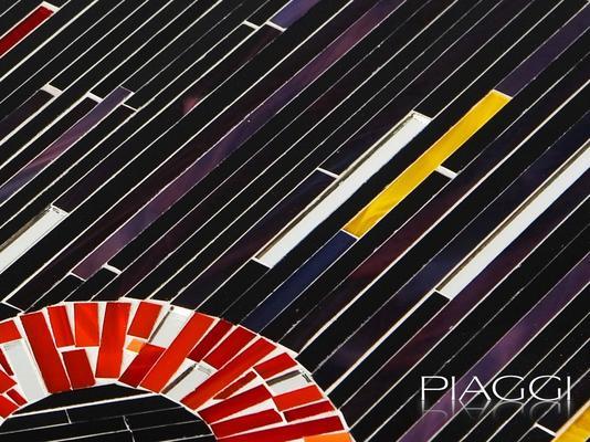 Circles PIAGGI decorative glass mosaic panel image 5