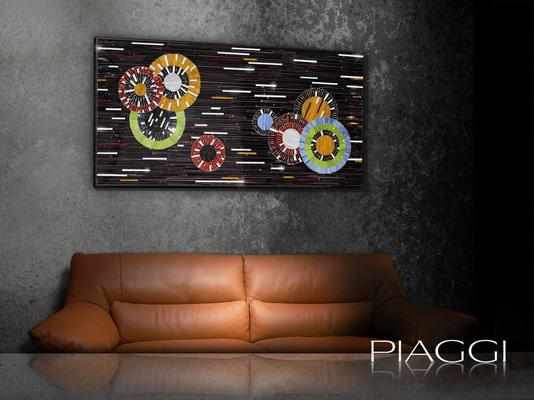 Circles PIAGGI decorative glass mosaic panel image 6