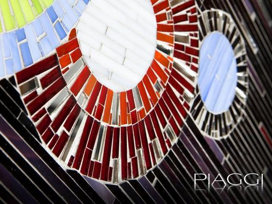 Circles PIAGGI decorative glass mosaic panel image 7