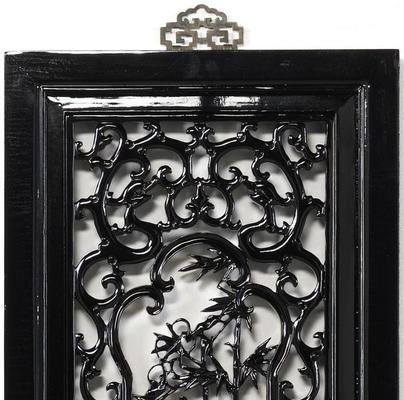 Carved Panel - 'Uprightness', Black Lacquer image 3
