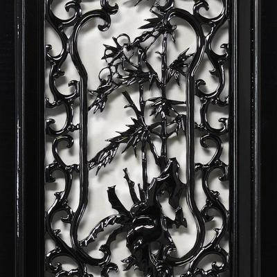 Carved Panel - 'Uprightness', Black Lacquer image 4