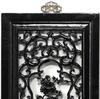Carved Panel - 'Humility', Black Lacquer image 3