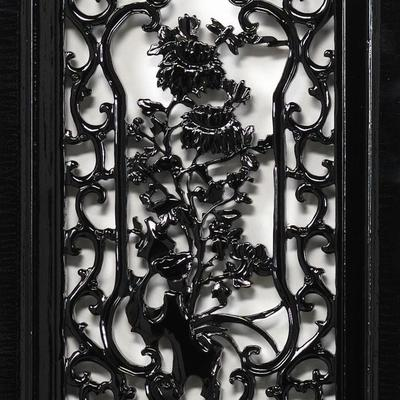 Carved Panel - 'Humility', Black Lacquer image 4