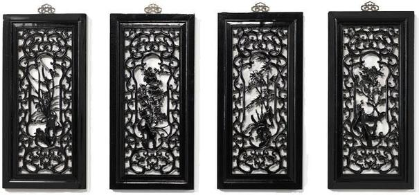 Carved Panel - 'Humility', Black Lacquer image 5