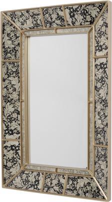 Champagne Glass Pattern Mirror Floral Pattern Frame