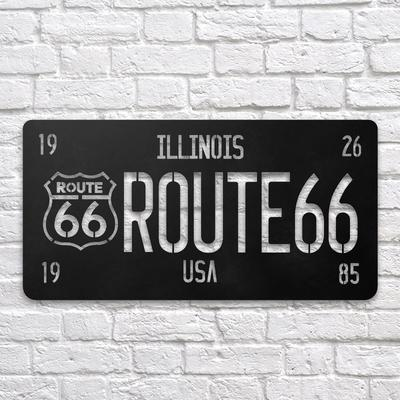 Route 66 Metal Wall Art