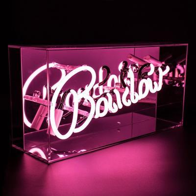 Neon Boudoir Mirrored Box Light - Pink