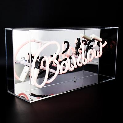 Neon Boudoir Mirrored Box Light - Pink image 2