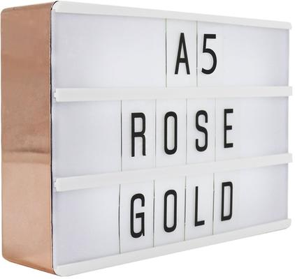 Rose Gold Lightbox Sign - A5