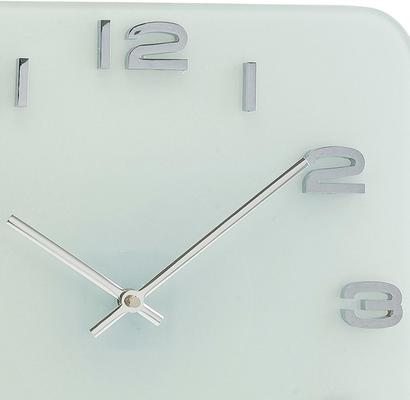 Karlsson Vintage Square Glass Clock (White) image 2