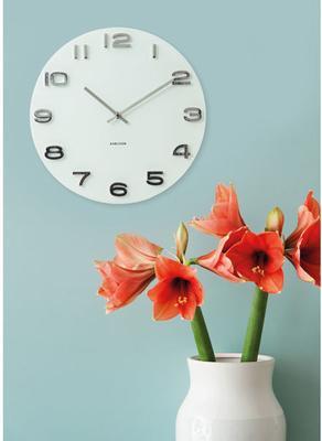 Karlsson Vintage Round Glass Wall Clock (White) image 2
