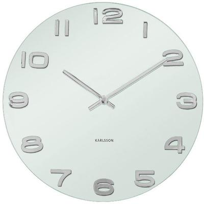 Karlsson Vintage Round Glass Wall Clock (White) image 2
