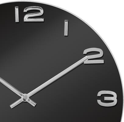 Karlsson Vintage Round Glass Clock (Black) image 2