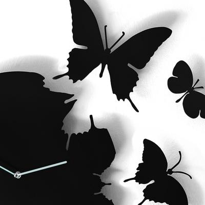 Black Butterfly Clock image 2