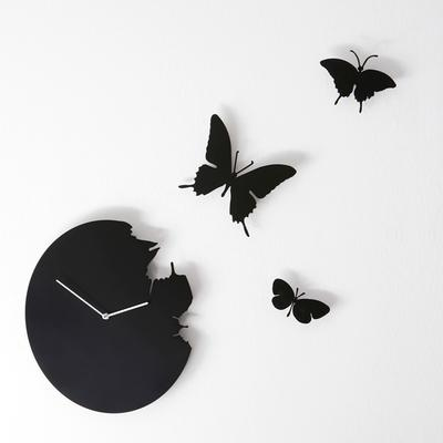 Black Butterfly Clock image 3