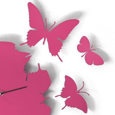 Fuchsia Butterfly Clock image 2