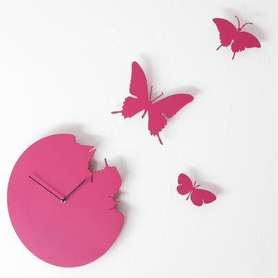Fuchsia Butterfly Clock image 3