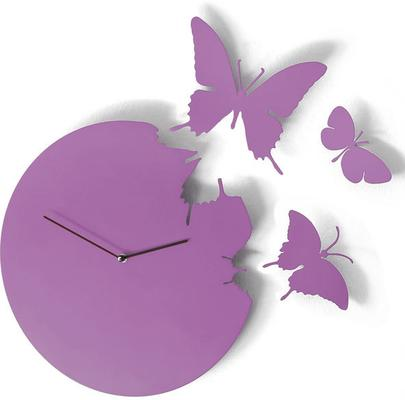 Violet Butterfly Clock