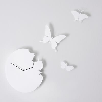 White Butterfly Clock image 3
