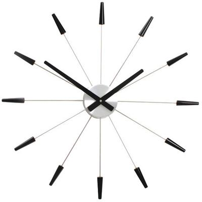 NeXtime Plug Inn Wall Clock Black