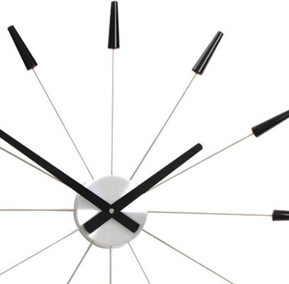 NeXtime Plug Inn Wall Clock Black image 2