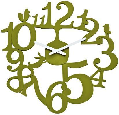 Koziol Pi:p Olive Wall Clock